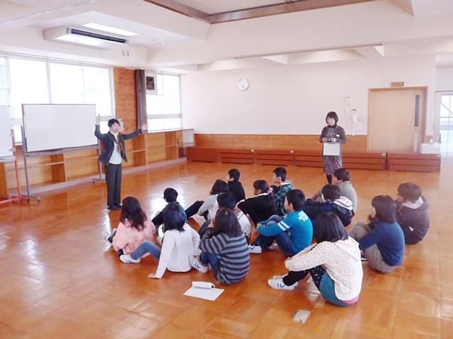 小学校での英語出前教室