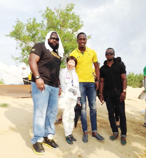 ジャマイカチーム 鳥取キャンプの通訳ボランティア